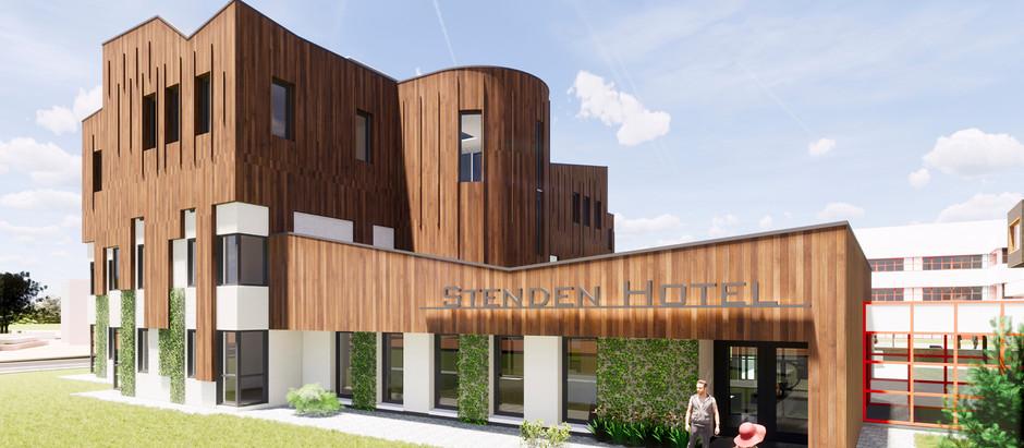 Bouw van Stenden Hotel is live te volgen
