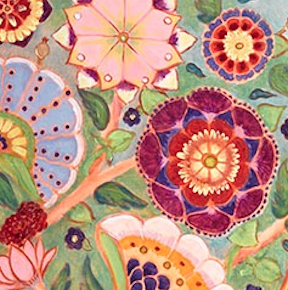Detail from Sacred Marriage Tree of Life: https://www.blurootstudios.com/paintings/