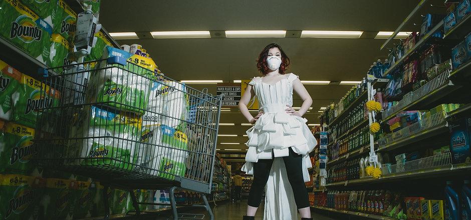 Covid 19  toilet paper dress