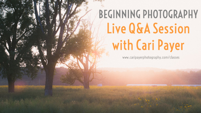 Beginning Photography - LIVE Q&A Session