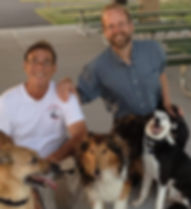 Marc Goldberg,Brother Christopher, and 3 dogs