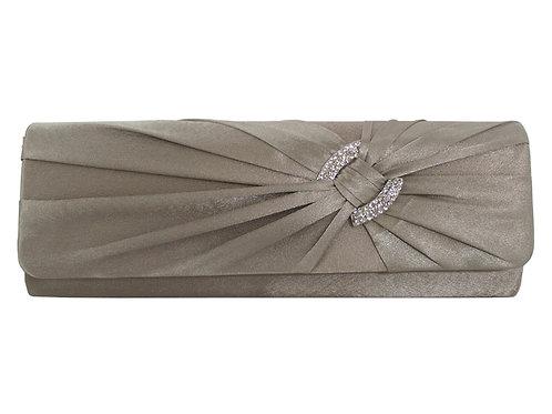 Khaki Clutch Bag with Diamante Buckle 26546