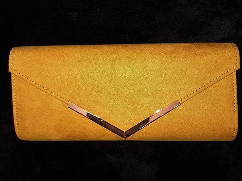 Mustard Gold suede effectbag 76212