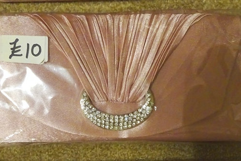 Dusky Pink Clutch Bag wth strap 7989658
