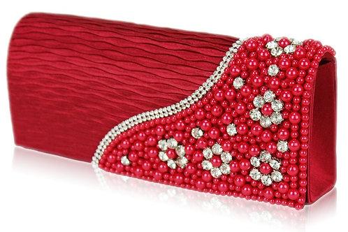 Red Pearl & Diamante Bag 376678