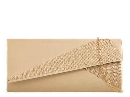 Nude Gold Clutch Bag with detachable strap 1232