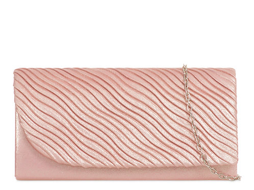 Dusky Pink metallic Bag with strap
