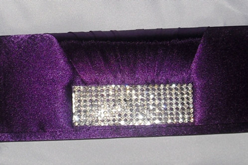 Purple Diamante Bag 103527