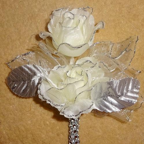 Silver Buttonhole Corsage