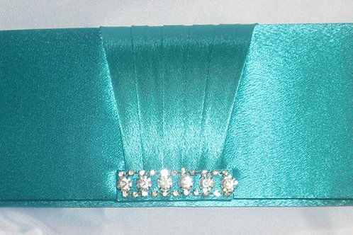 Teal / Deep Turquoise Jewel Clutch Bag 195271