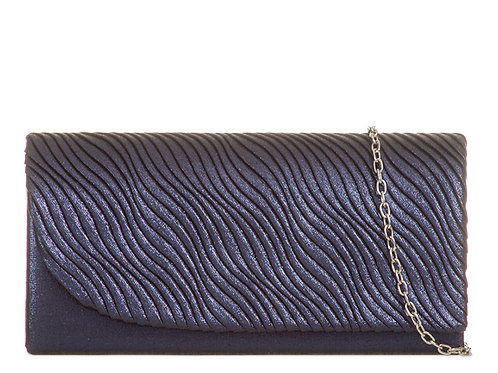 Blue Clutch Bag with strap 888999