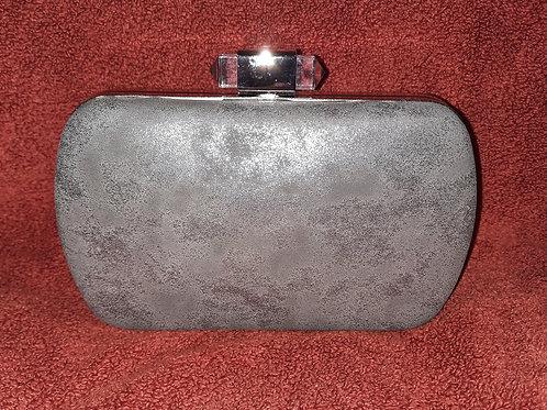 Silver metallic clutch bag7621115.