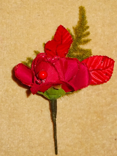 Red Rose Buttonhole Corsage