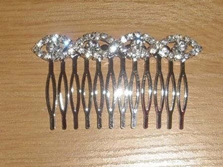 Silver Rhinestone Hair Comb 5258