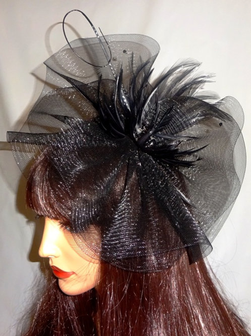 Black Crin Hatintor fascintor Hat on band 9292987
