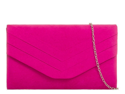 Hot Pink Clutch Bag with strap 111434