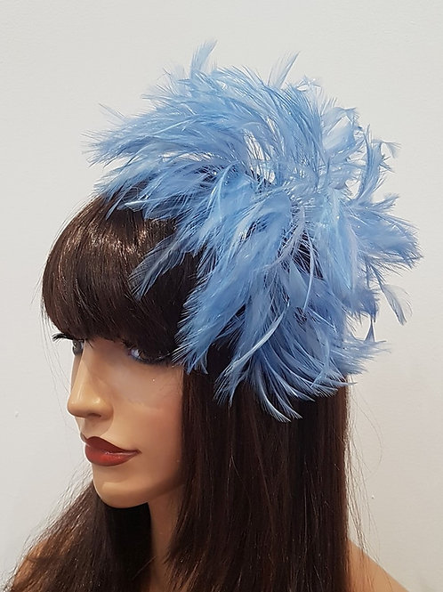 Periwinkle Feather Fascinator Comb 89865