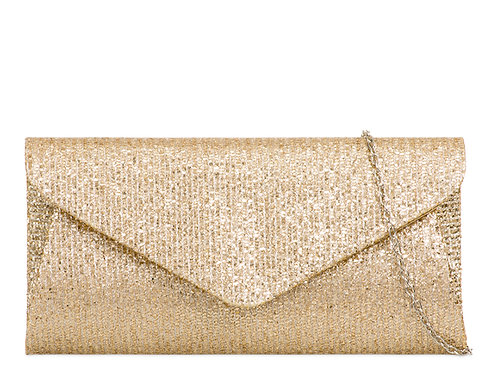 Gold sparkly Clutch Bag with detachable strap 1233