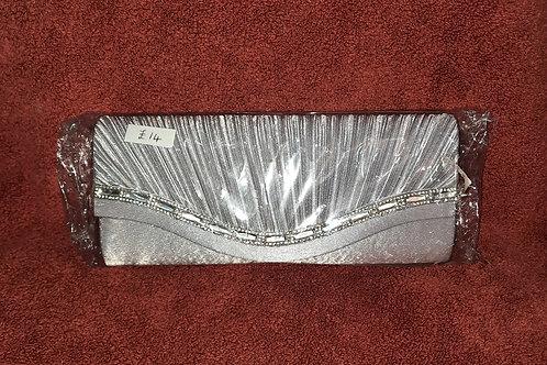 Light silver clutch bag with rhinestone trim 76211144.