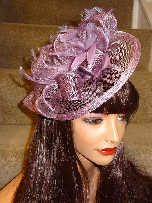 Heather Teardrion Fascinator Hat on band