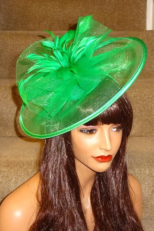 Green Hatinator Fascinator Hat on band