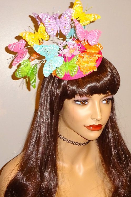 Wacky Fun Butterfly Hat Fascinator on base with Comb