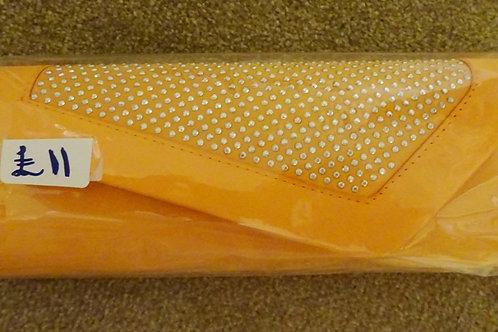 Orange Clutch Bag with strap 808909