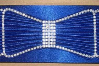 Rhinestone Bow Cobalt Blue Clutch Bag