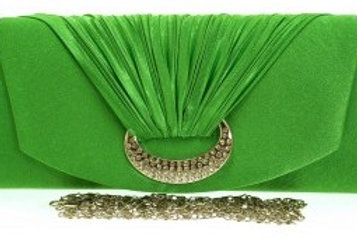 Green Diamante Clutch Bag 321234