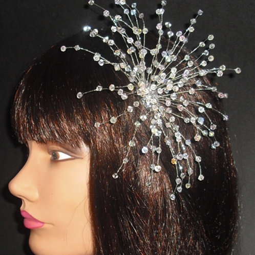 Large Crystal Fascinator Comb