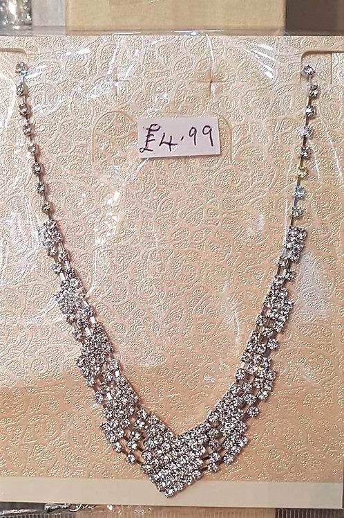 Rhinestone Crystal Necklace 191010