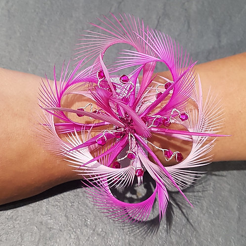 Pink Wrist Corsage on an elasticated band 171817
