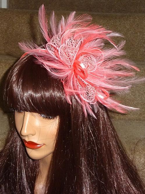 Flamingo Pink Fascinator on Band 57658