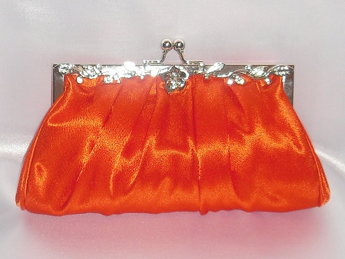 Deep Orange Satin Bag