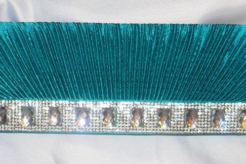 Teal / Deep Turquoise Jewel Clutch Bag
