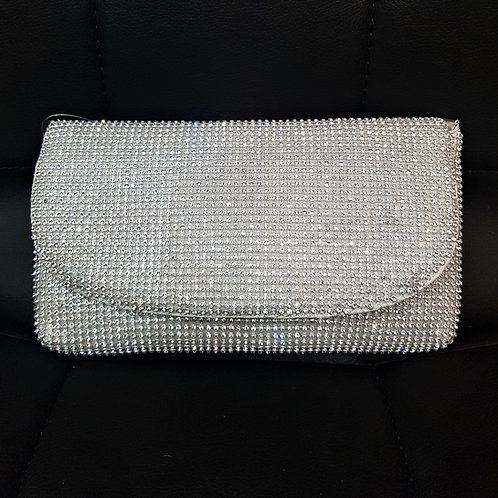 Silver Rhinestone Crystal soft bag 8412044