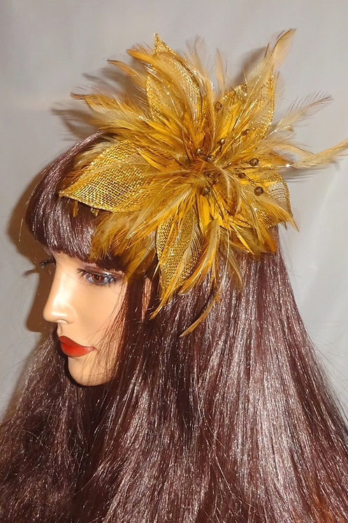 Dark Gold Fascinator 868953