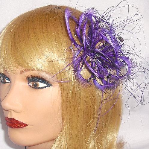Magenta Purple Looped Fascinator comb 291638
