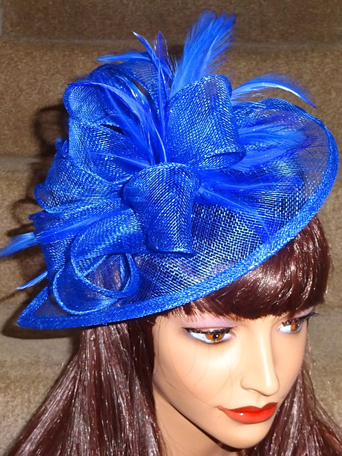 Cobalt Blue Fascinator Hat on band 475471
