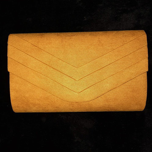 Mustard Yellow suede effectbag 76212