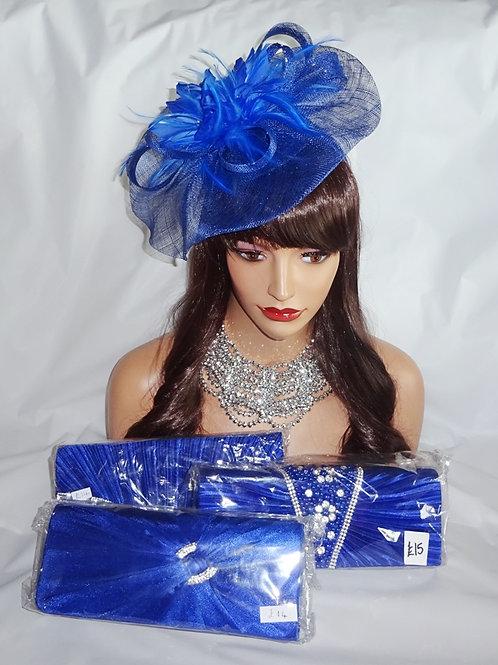 Cobalt Blue Fascinator Hat on band 35680