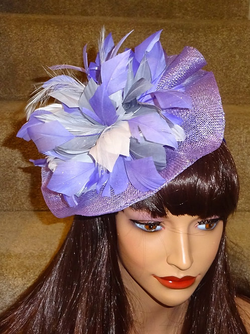 Lilac Sinamay Fascinator Hatinator Hat on Band 885599
