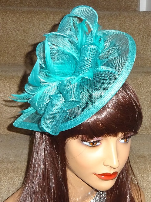 Turquoise Teardrop Fascintor Hat on band 390098