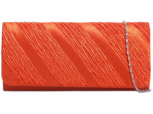 Burnt Orange Clutch Bag with strap 445545