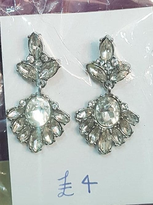 Silver Jewelled Earrings