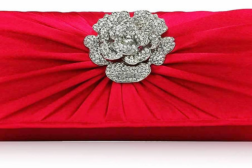 Red Bag with Diamante Flower Centre