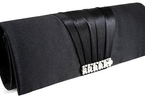 Black Satin Clutch Bag 193627