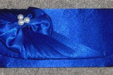 Cobalt Blue Clutch Bag with pearls