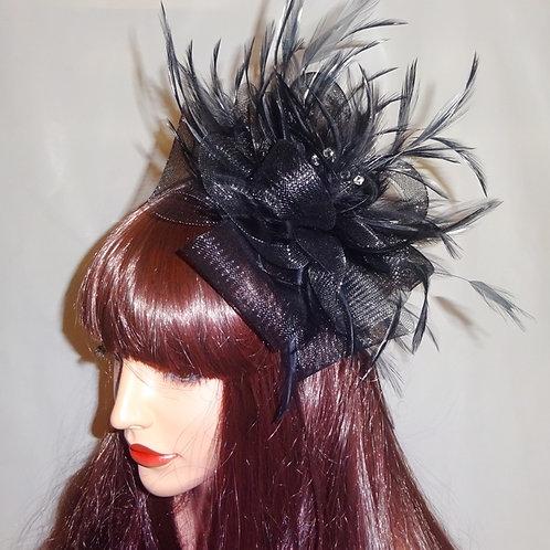 Black Crin & Feather Fascinator 737777