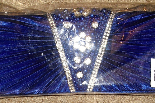 Cobalt Blue Rhinestone Crystal Clutch Bag